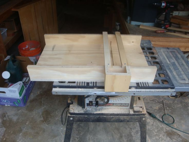 Build a table saw sled woodworking for mere mortals for Table saw sled