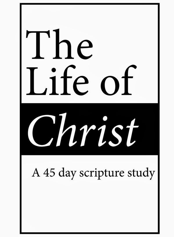The Life of Christ, a 45 day scripture study to read about Jesus Christ's life chronologically. Free printable pdf. handmadeintheheartland.com #lds #Relief Society