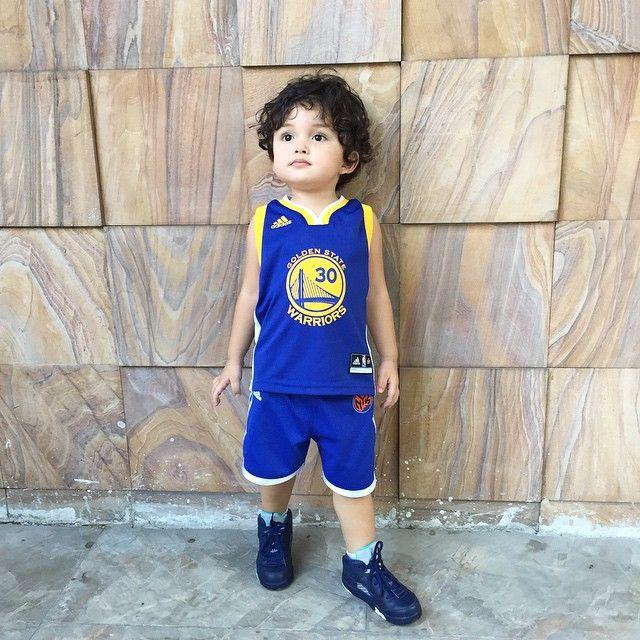 Baby Zion Gutierrez Wearing his Golden State Warriors Basketball Outfit   Adorable Kids   Pinterest