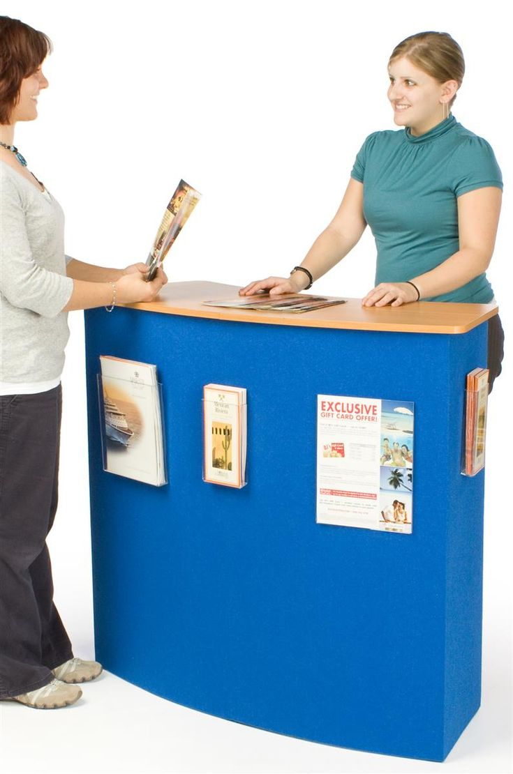 Portable Trade Show Counter   Easy Set Up Promotional Stands