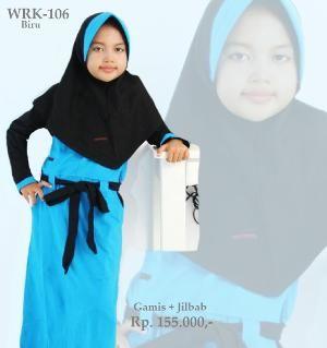 Baju Gamis Anak Perempuan WRK-106 Turkis