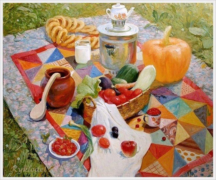 Комаров Николай Парфенович (Россия, 1954) «Натюрморт с овощами» 2007