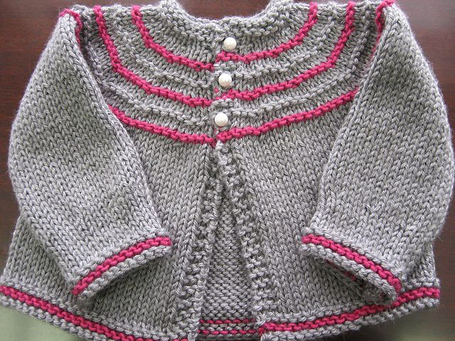 Ravelry: Project Gallery for Five Hour Baby Sweater pattern by Courtney Filner
