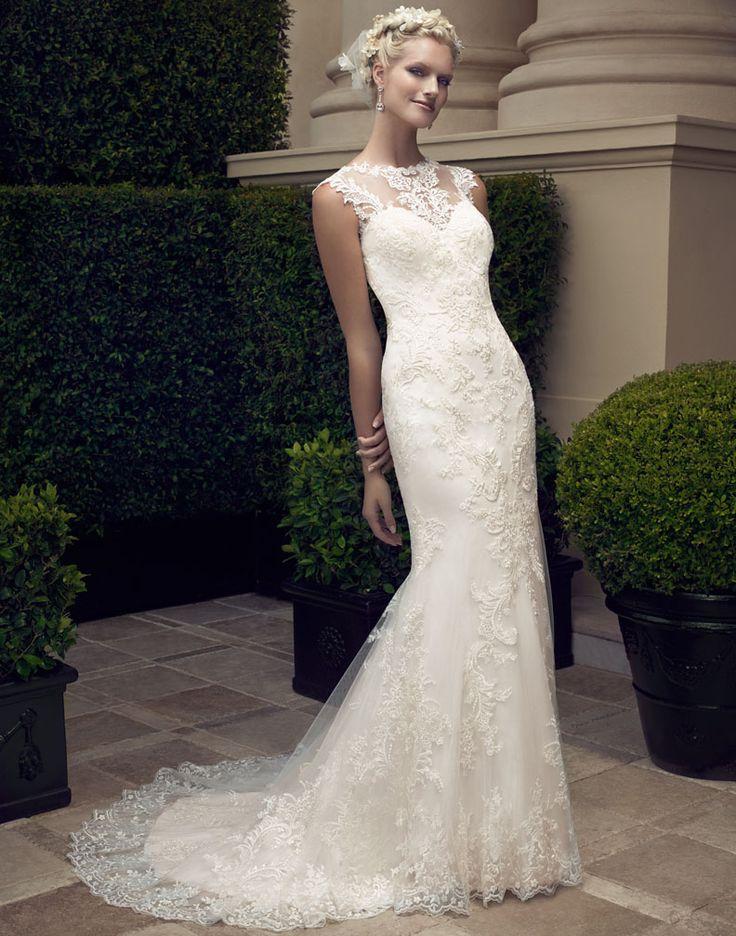 Bellethemagazine wedding dresses | Casablanca Bridal Spring 2015 | Floor Ivory Mermaid / Trumpet Illusion $$ ($1,001-2,000)