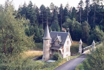Ardverikie, Scotland. Gatelodge is situated by the main entrance to Ardverikie on the banks of the River Pattack. With its fairytale turret and spiral staircase this charming house is a popular choice with couples looking for a romantic break.
