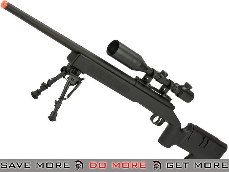 ASG McMillan USMC M40A3 SportLine Airsoft Sniper Rifle - Black