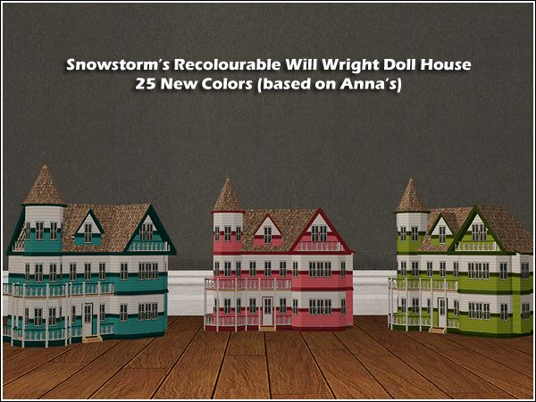 simlish   25 Will Wright Doll House Recolors