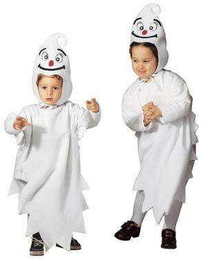Disfraz de fantasma para niño o niña, ideal para Halloween. Disponible en www.vegaoo.es