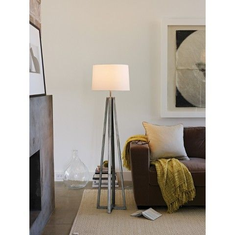 Thresholdtm metal linear floor lamp collection living for Threshold floor lamp metal shade