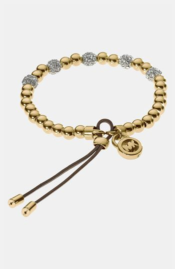 Michael Kors Bead & Crystal Stretch Bracelet available at #Nordstrom