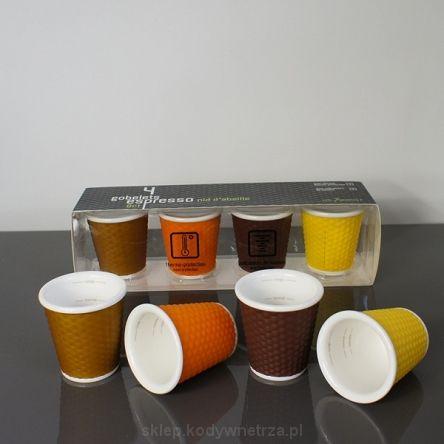 LES ARTISTES - Zestaw 4 porcelanowych filiżanek / kubków do espresso - Set of 4 espresso cups - ciekawe, oryginalne, designerskie, nowoczesne, piękne i ekskluzywne elementy i dodatki do dekoracji wnętrz - wazony, karafki, dzbanki, miski, miseczki, doniczki, świeczniki, tealight, zegary, gazetniki, pojemniki, kosze, koszyczki, wieszaki, szklanki, kubki i filiżanki.