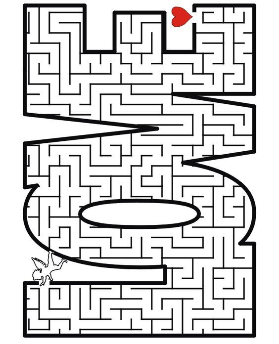 Valentine Maze   A Free Printable Valentineu0027s Day Activity Page Of The Word  LOVE Made Into A Maze For Kids Who Enjoy Maze Puzzles.