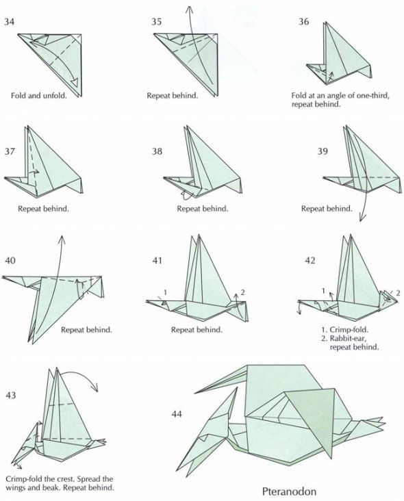 how to fold origami dinosaurs - Google Search