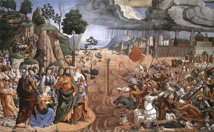 Sistine Chapel Southern Wall - Crossing the Red Sea