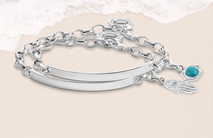New in and oh-so-beautiful. Our engravable Charm Club bracelet.