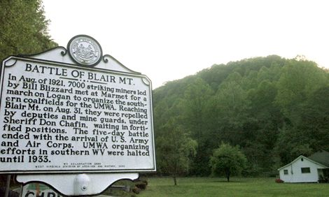 The Battle of Blair Mountain, the largest armed rebellion after the American Civil War occurred in 1921 in Logan County, West Virginia. Link to article: http://en.wikipedia.org/wiki/Battle_of_Blair_Mountain
