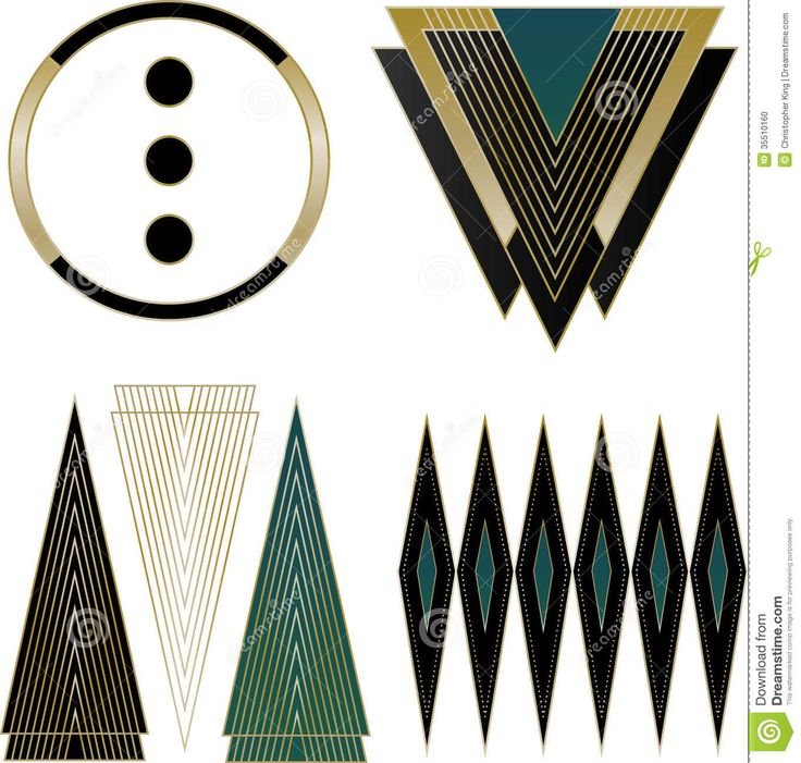 Art Deco Logos And Design Elements Stock Photo - Image: 35510160
