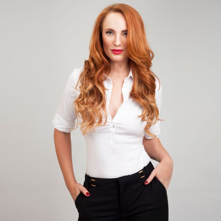 Strawberry Blonde FrontRow Clip-In Hair Extensions on model Sarah :) Avaliable for purchase at www.frontrow.co.za