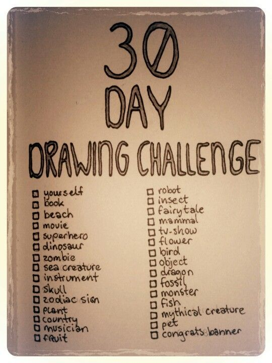 30 Day Drawing Challenge. Doing this right now! (A…