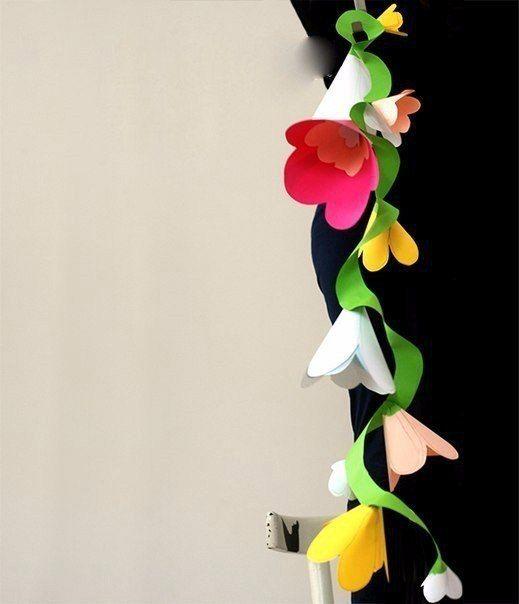 Цветочная гирлянда / Рукоделие