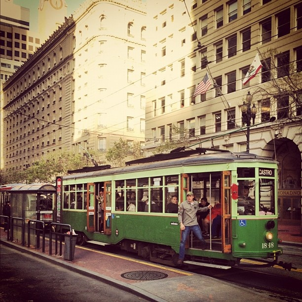 San Fransisco trams - just like home!! These Trams ran in Melbourne in the 70s