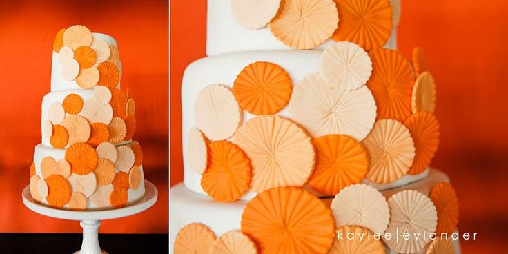 orangePolka Dots, Jenny Cookies, Orange Wedding, Cake Design, White Wedding Cake, Orange Cake, Cake Ideas, Cake Decor, Eating Cake