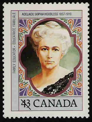 In 1993, Canada Post issued a portrait stamp, designed by Heather Cooper.