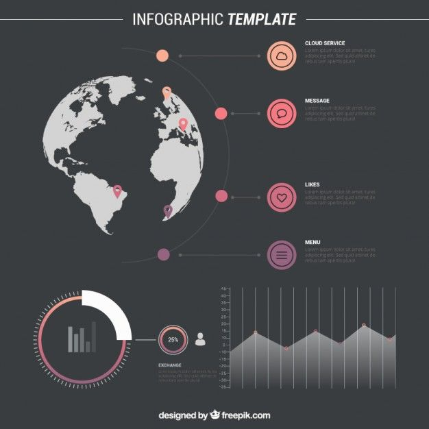 13 best infographic images on pinterest info graphics infographic infographic template with world map free vector gumiabroncs Image collections