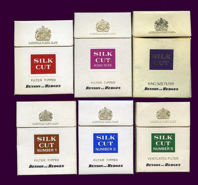 Silk Cut Cigarette packets