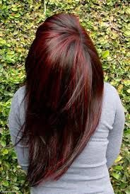 brunette with red highlights - Google Search