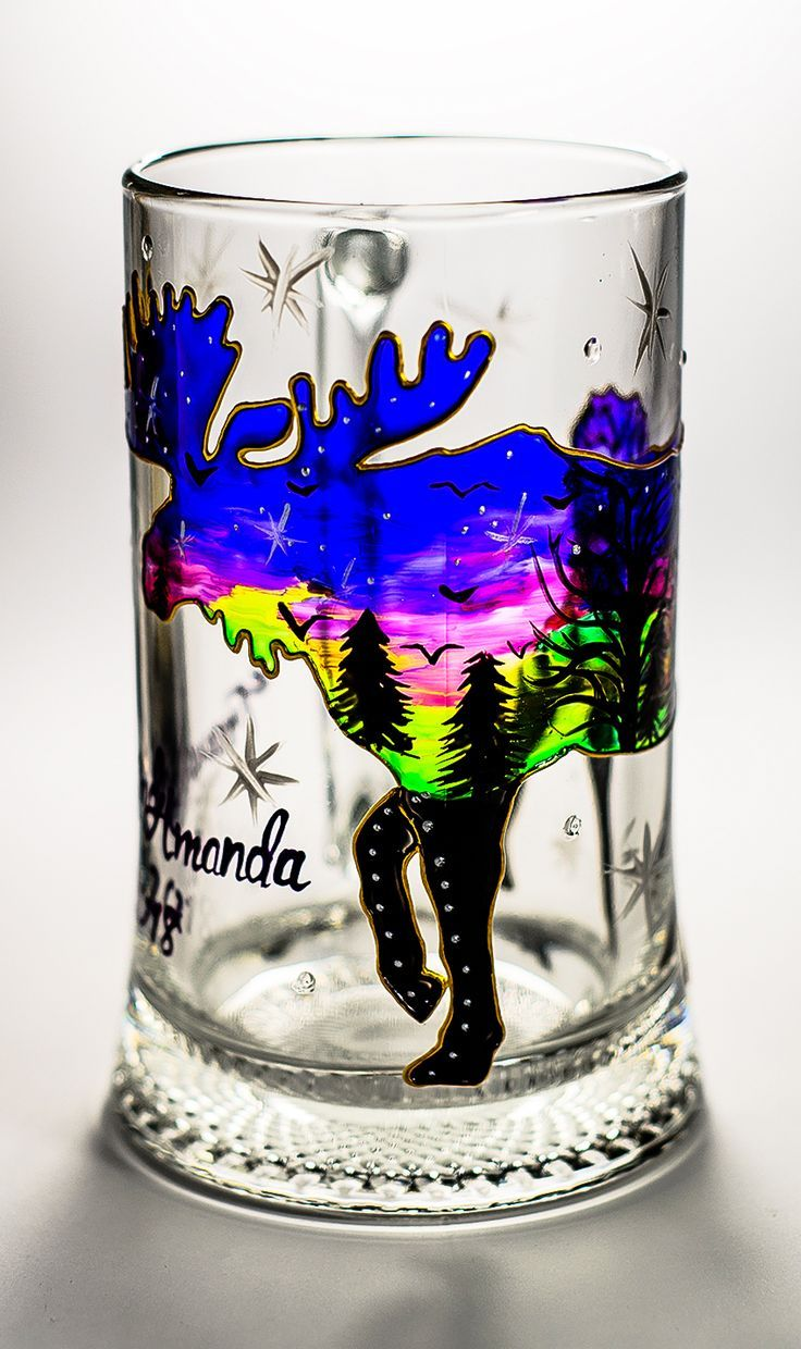 Moose Beer Mug Personalized Christmas Gift for him Birthday Gift For ...