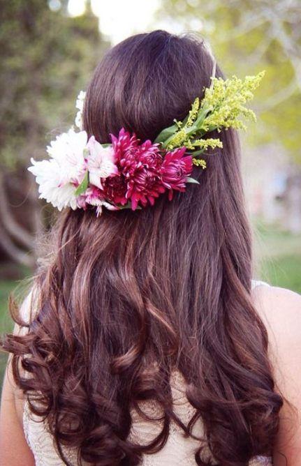 Easy bridal hairstyles diy flower crowns 18  ideas,  #Bridal #crowns #DIY #diyhairstyleseasyi...