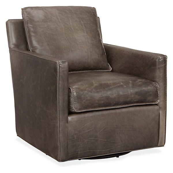Bram Leather Swivel Chair - Swivel Chairs - Chairs - Living - Room & Board