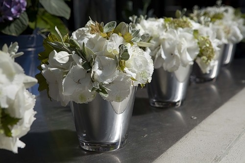 glass (silver painted inside) (instead may be used reflecting paint)          --- for flowers