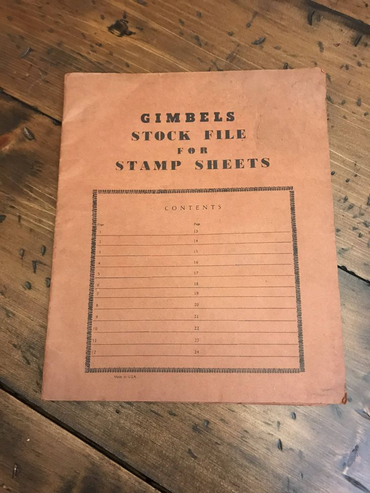 Vintage Stamp  Collection, Stamp Sheets, Gimbels Stock File, Glassine Stamp Storage, Postage Stamps, Inventory File ( C082)
