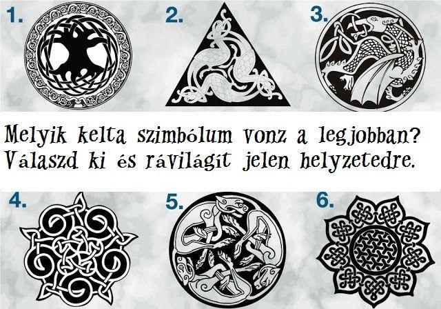 A héten a kelta szimbólumok üzentek neked.Jelenlegi élethelyzetedet tárja fel a következő hat kelta szimbólum. Válaszd ki azt, ami a legjobban vonz, és olvasd el a leírást. A kelta csomók, amelyeket Icovellavna néven is ismertek már évszázadok óta, nem csak dekorációs, de spirituális szándékot is szolgáltak. A csomómágia ősi boszorkány mágikus módszer és a levegő …