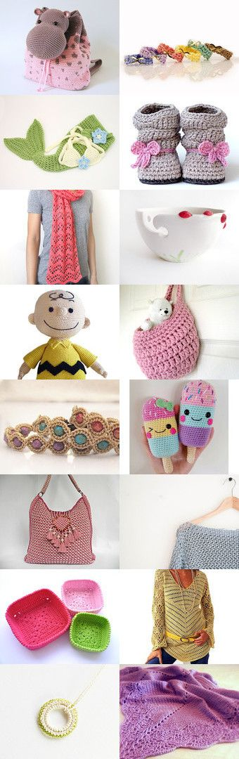 maRRose - CCC: Treasury Tuesday, Crochet Beauty by Marianne Dekkers-Roos on Etsy--Pinned+with+TreasuryPin.com