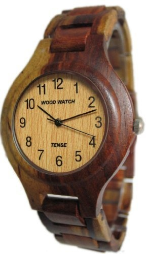 Cool watch. Amazon.com: Tense Inlaid Multicolored Mens Wood Watch G7509I: Tense: Watches