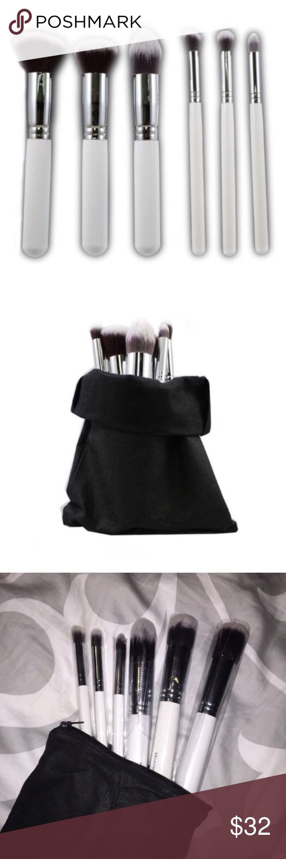 Morphe Contour Brush Set New With Tag, 🚫 trade. Authentic Morphe Brushes. 6 piece brush with a carrying case. Morphe Makeup Brushes & Tools