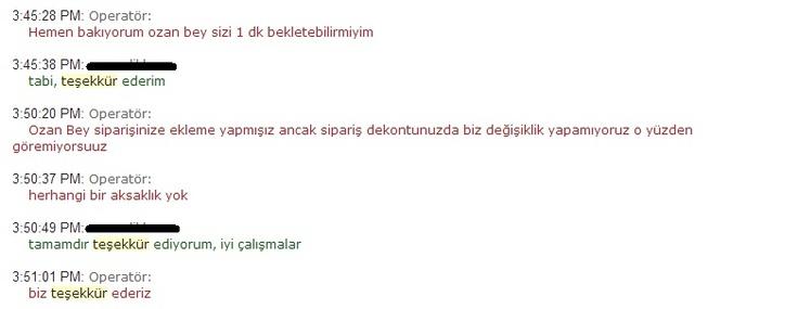 Teşekkür ediyorum Hammaddeler.com, iyi çalışmalar. Ozan D.
