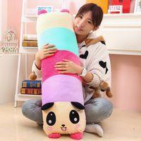 Cor o travesseiro panda produtos para o lar reforçar pelúcia presente de brinquedos de pelúcia presente de aniversário presente do dia das crianças