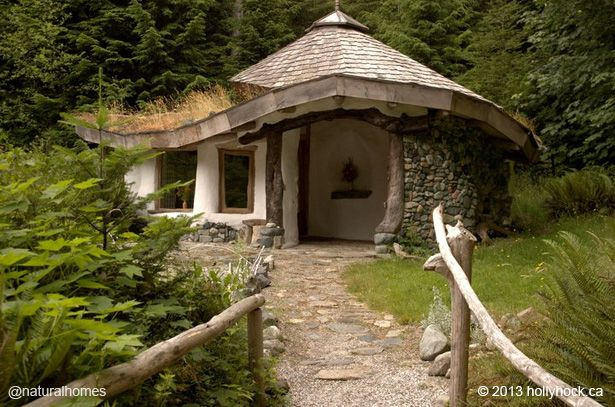 This cob home is from the Natural Homes Collection. It's just one of the many beautiful homes you can find on www.naturalhomes.org with video, books and links to the natural builder's websites.