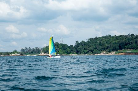 It's an incredible spot for watersports and activities  Don your snorkeling gear and explore Bintan's oceans, filled with coral reefs and fish darting about, windsurf on clear waters, or learn to sail in the South China Sea.