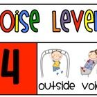 Bright, color coded noise level chart that will help your students stay at the desired noise level in class!  Print the pages off, put them togethe...
