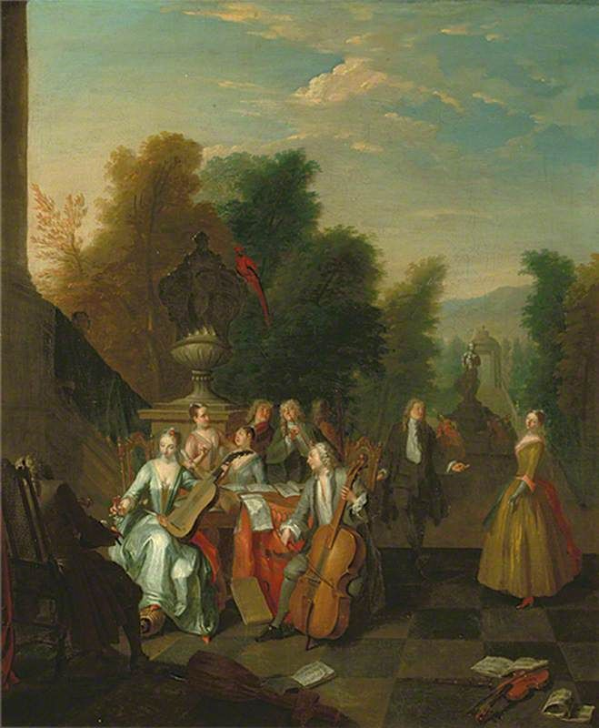 The Music Party  Joseph van Aken (c.1699–1749)  Towner