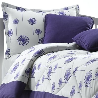 Purple Dandelion Bedding With Matching Pillow Sham. Shop Now!! Youu0027ll Love