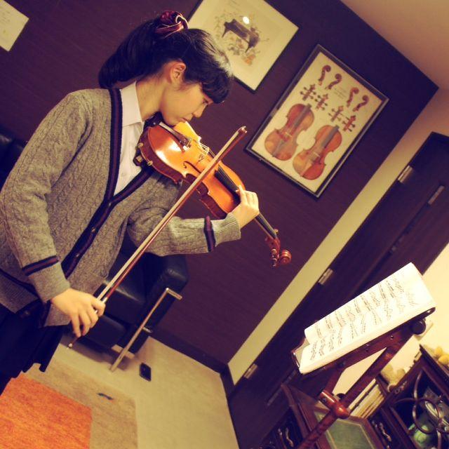 ヴァイオリンレッスン風景