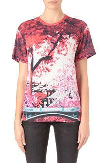 MARY KATRANTZOU Blossom-print t-shirt