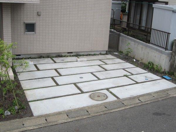 箱抜きで石畳風土間コンクリート駐車場 神奈川県伊勢原市K様邸1