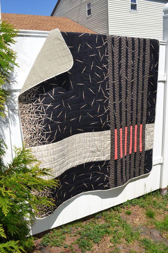 Modern pieced quilt